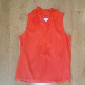 NWOT J.CREW Naomi Sleeveless Silk Top Size 8